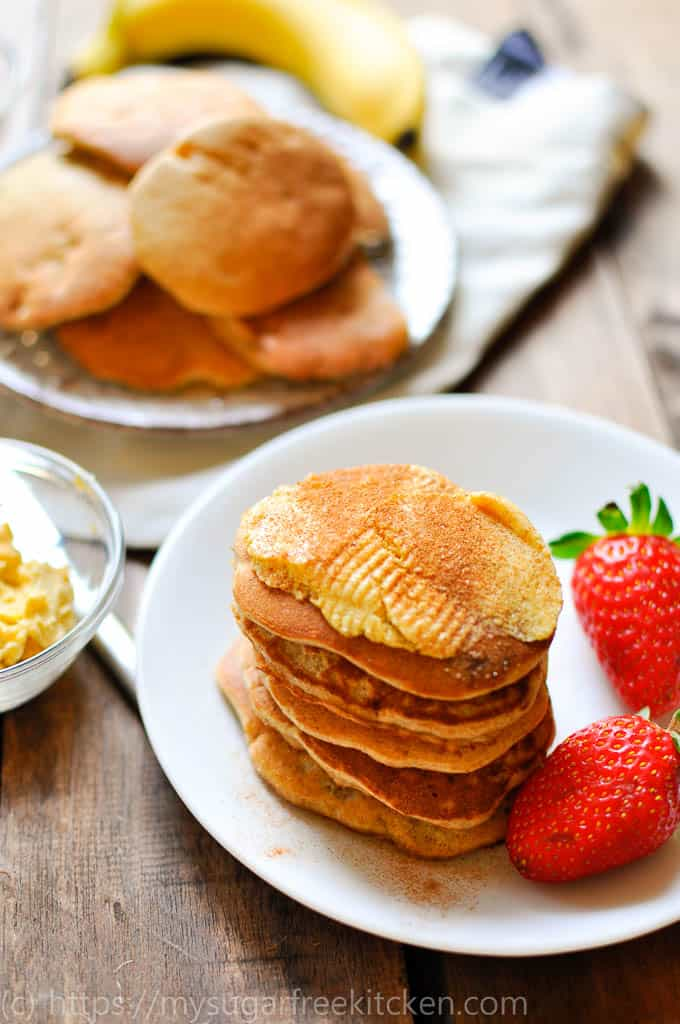sugar free pikelets with vanilla butter