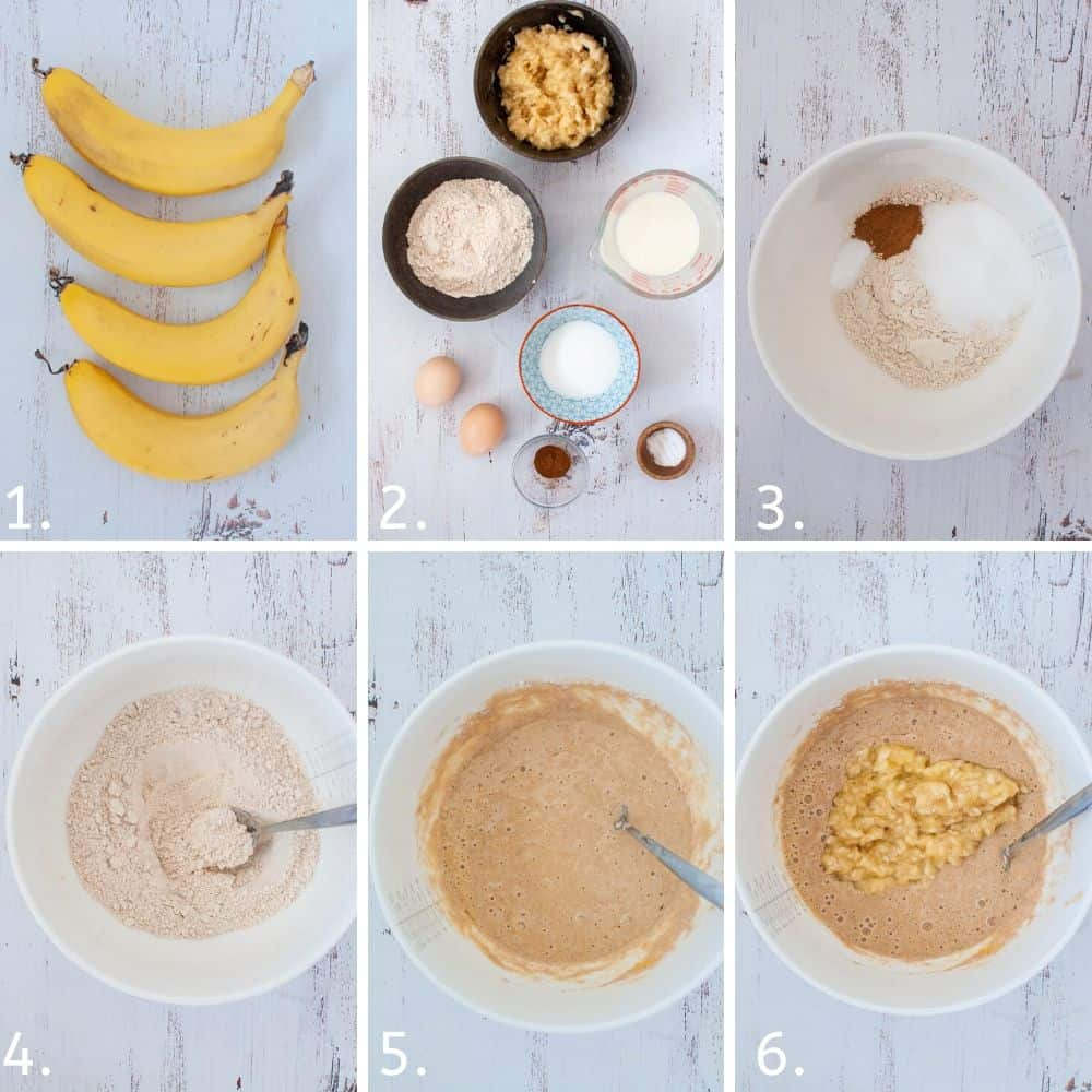 How to make banana pikelets step by step