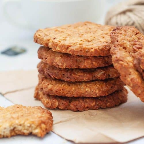Healthy Sugar Free Anzac Biscuit Recipe My Sugar Free Kitchen