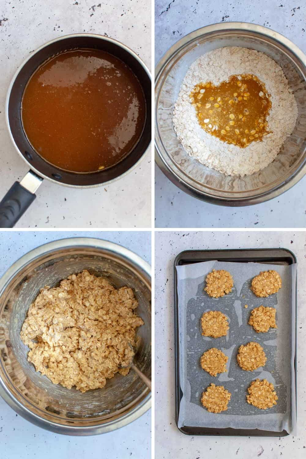 Healthy anzac biscuits preparation 2