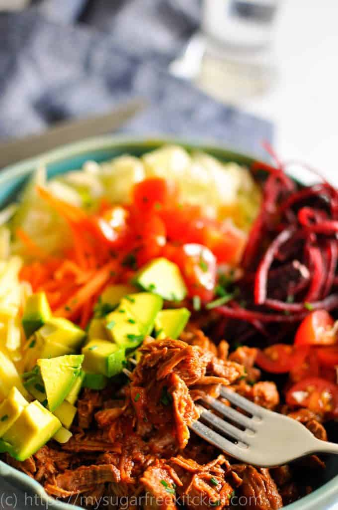 Healthy mexican beef tacos in a bowl are a must for lazy weekend dinners with lots of spice and crispy crunchy salad