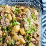 Easy tuna mornay pasta bake made with mushroom cup of soup.