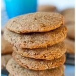 Gluten free and healthy peanut butter cookies made with almond flour