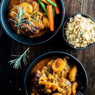 Easy baked Apricot Chicken Curry Casserole is the perfect healthy and spicy comfort food.