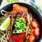 This Chilli Soy Salmon with Sesame Noodles is bursting with flavour and perfect for a quick weeknight dinner.
