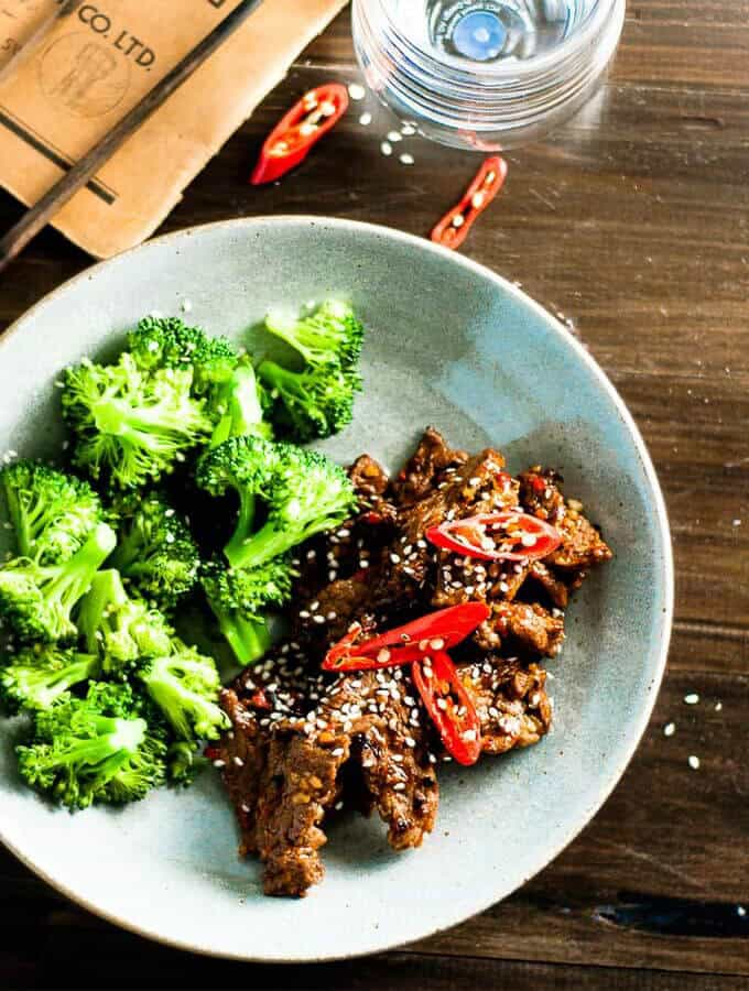 Sticky Chilli Beef and Broccoli