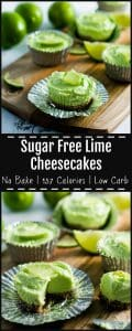 Sugar free lime cheesecake at only 157 calories per serve.