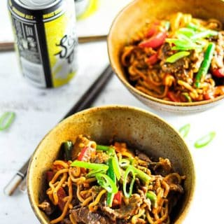 Easy and delicious Beef Satay Curry Noodles