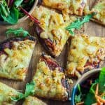 Salami and pineapple pocket bread pizza
