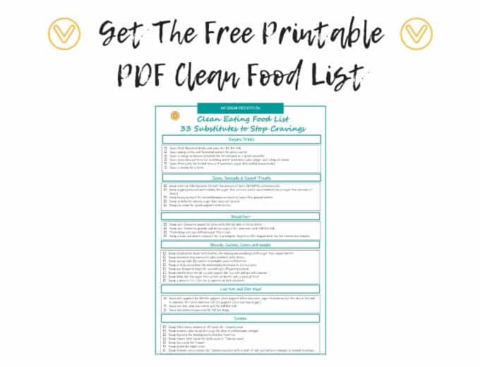clean eating food list printable pdf