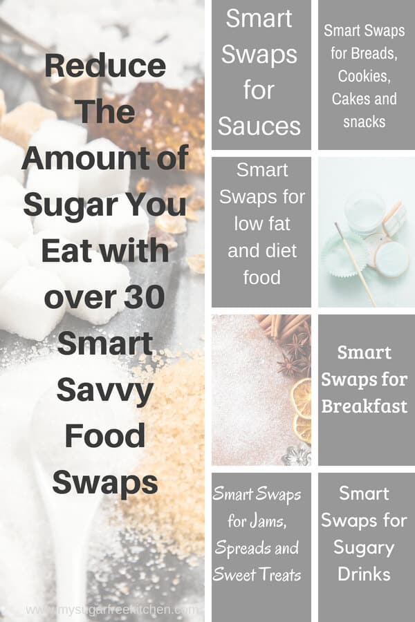 Reduce The Amount of Sugar You Eat with over 30 Smart Savvy Food Swaps
