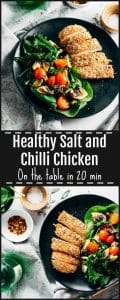 Healthy salt and chilli chicken pinterest image