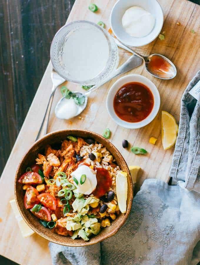 Salmon Burrito Bowl