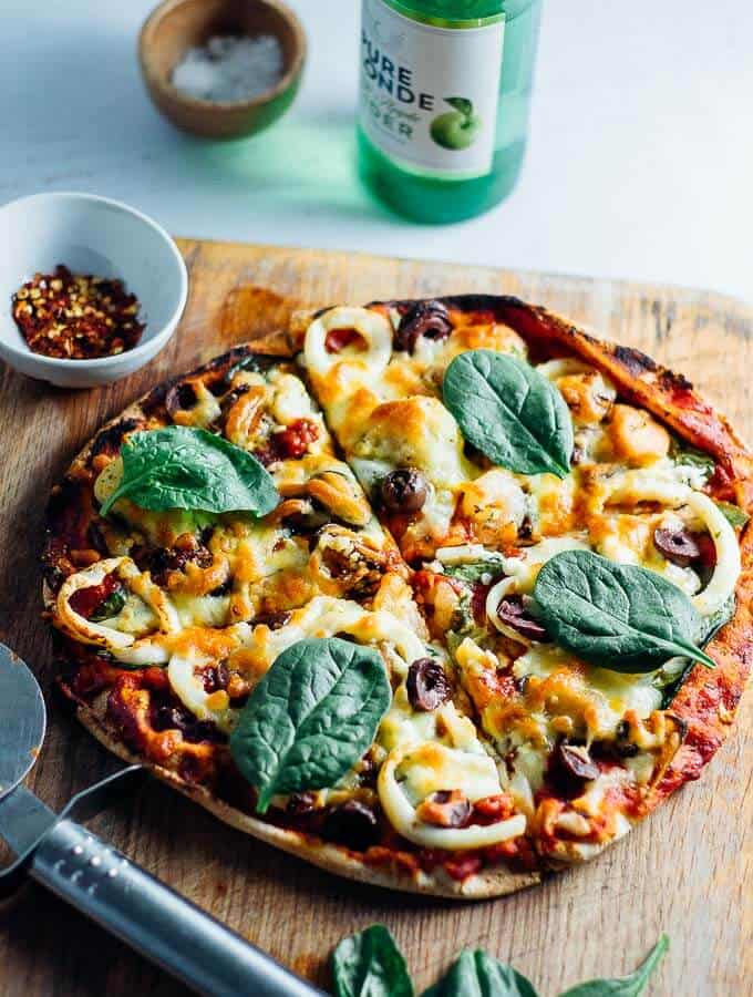 Seafood Marinara Pizza for one featured image