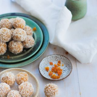 2 plates of Apricot Bliss Balls