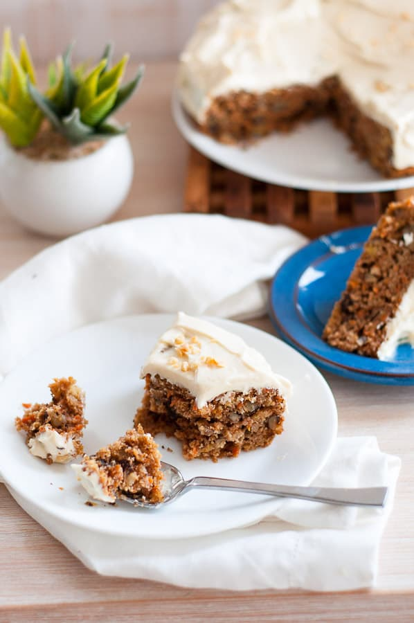 Low carb carrot cakes on a plate