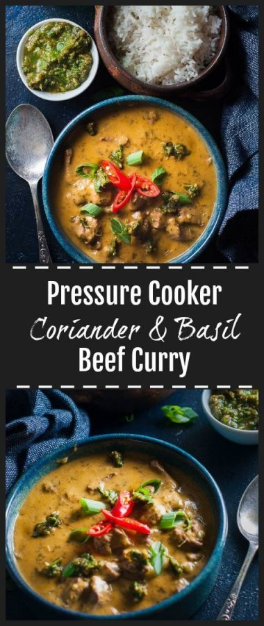 Pressure cooker beef curry pinterst pin