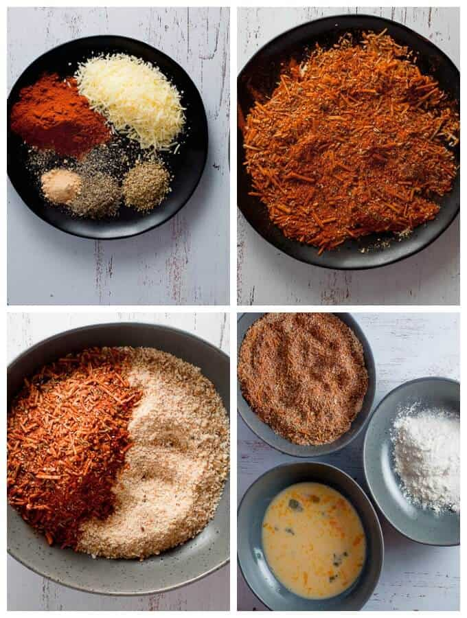 Baked Parmesan Paprika Chicken spice collage