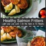 salmon fritters pinterest pin