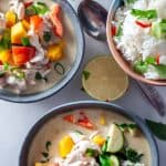 2 bowls of clean eating thai chicken curry