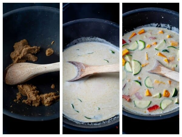 Clean Eating Thai Green Curry in process photos