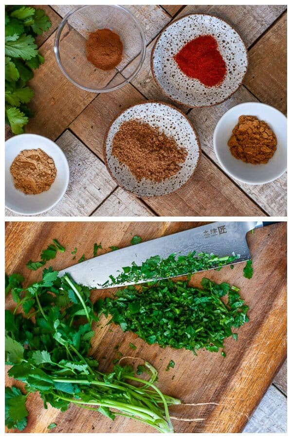 Slow Cooker Moroccan Meatballs spices and corriander