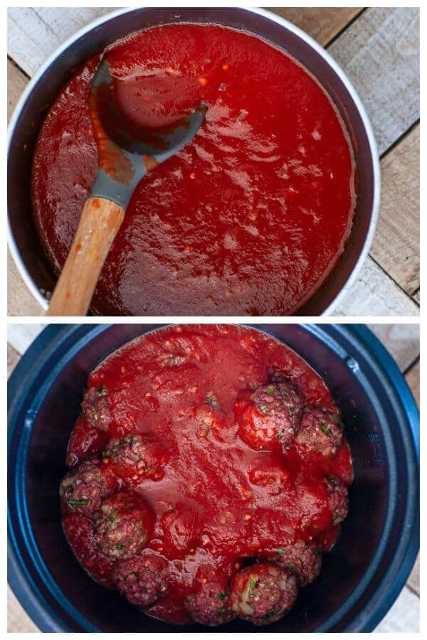 Slow Cooker Moroccan Meatballs in tomato sauce