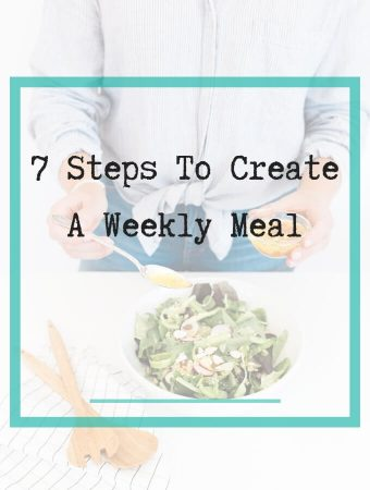 7 steps to create weekly meal plan