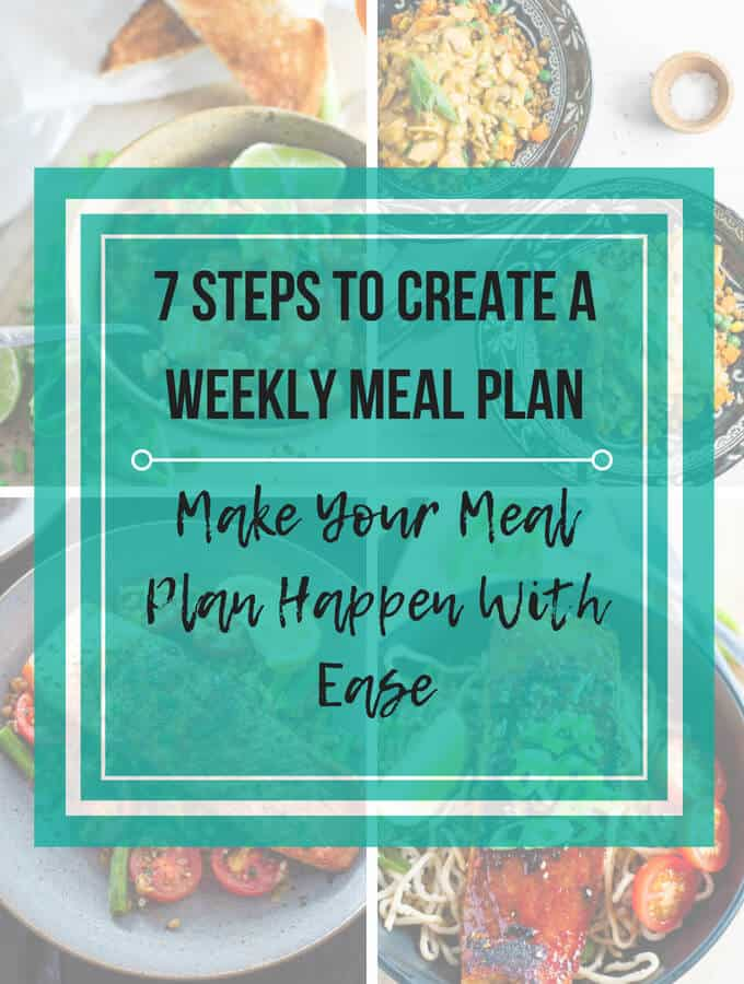 7 Steps To Create A Weekly Meal Plan