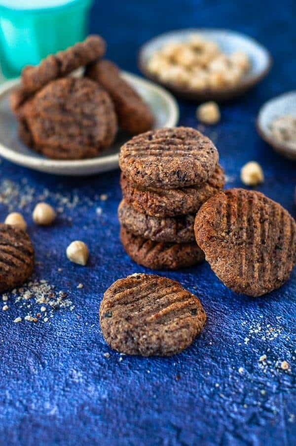 Stack of 4 Hazelnut meal cookies