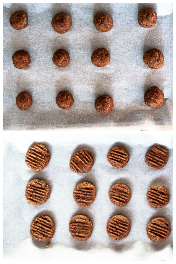 Hazelnut meal cookie collage 4