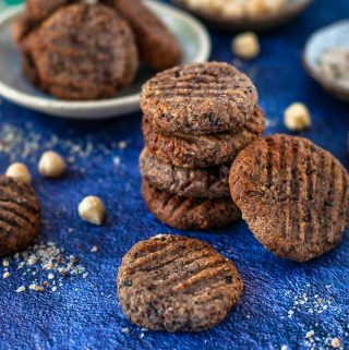 mini stack of hazelnut meal cookies