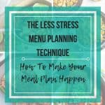 Make you meal plan happen