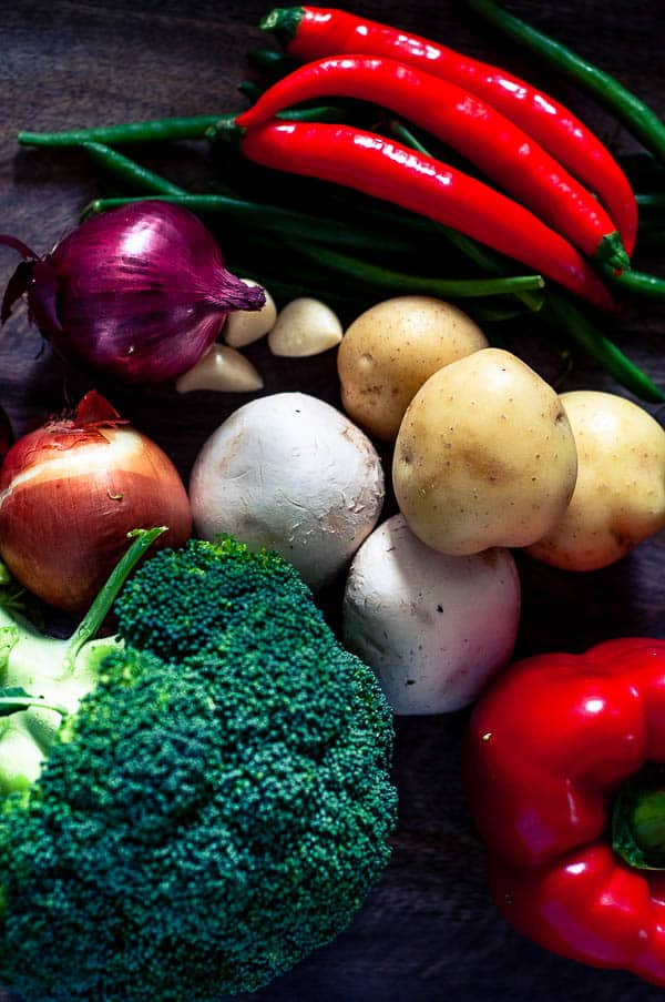 A bunch of healthy vegetables