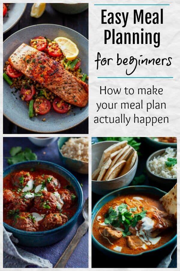Easy Meal Planning For Beginners.  How To Actually Make Your Meal Plan Happen.  #mealplanning #mealplanningtips www.mysugarfreekitchen.com