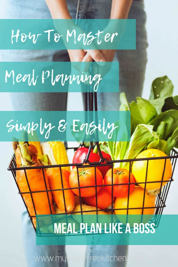 How to master meal planning pinterest pin image