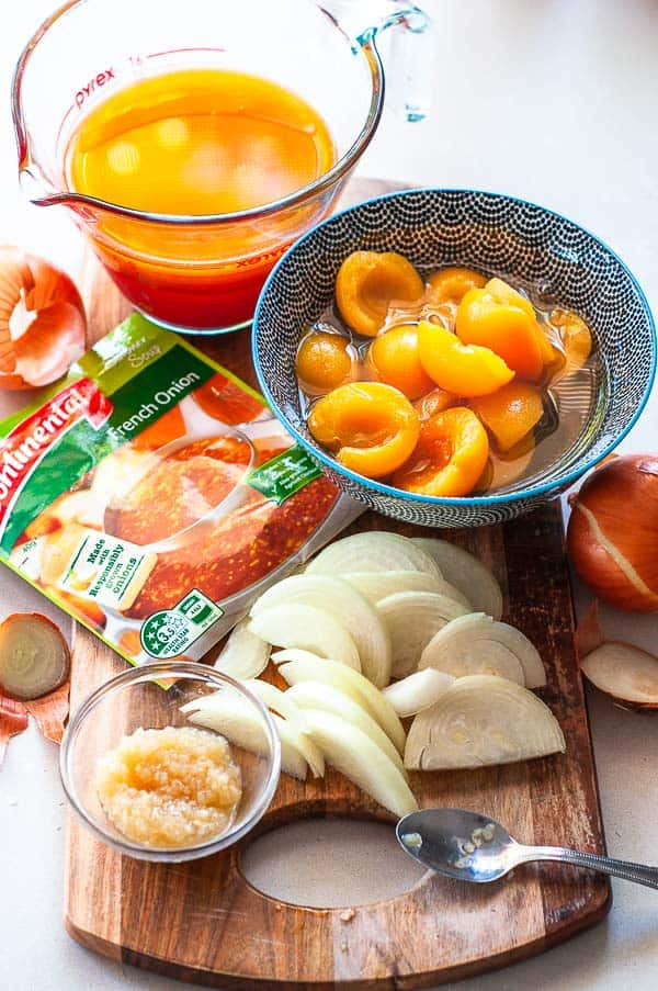 ressure Cooker Apricot Chicken Ingredients