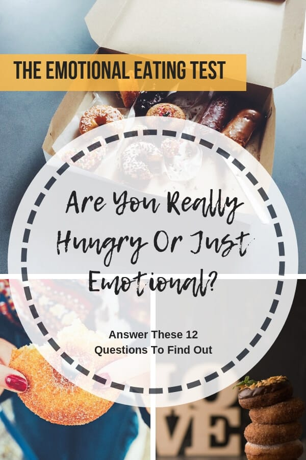 Take the emotional eating test to discover if you eat because you're hungry or because you're emotional. Answer these 12 questions to help you discover if you're an emotional eater and get tips to stop eating your emotions.#emotionaleating #cravings #quitsugar #mysugarfreekitchen