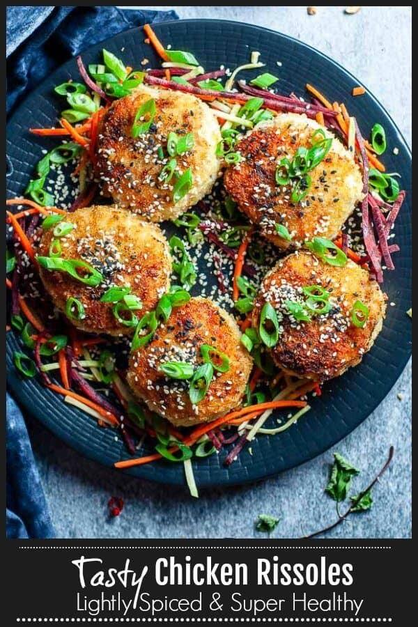 Chicken Rissoles pinterest
