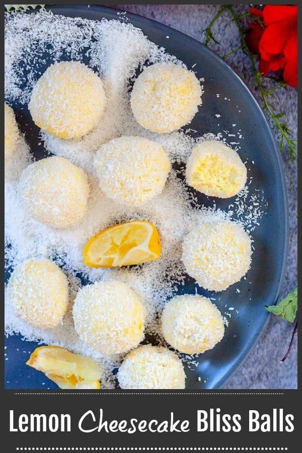 Easy Lemon Bliss Balls that taste like cheesecake