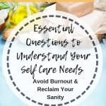 Self Care Questions