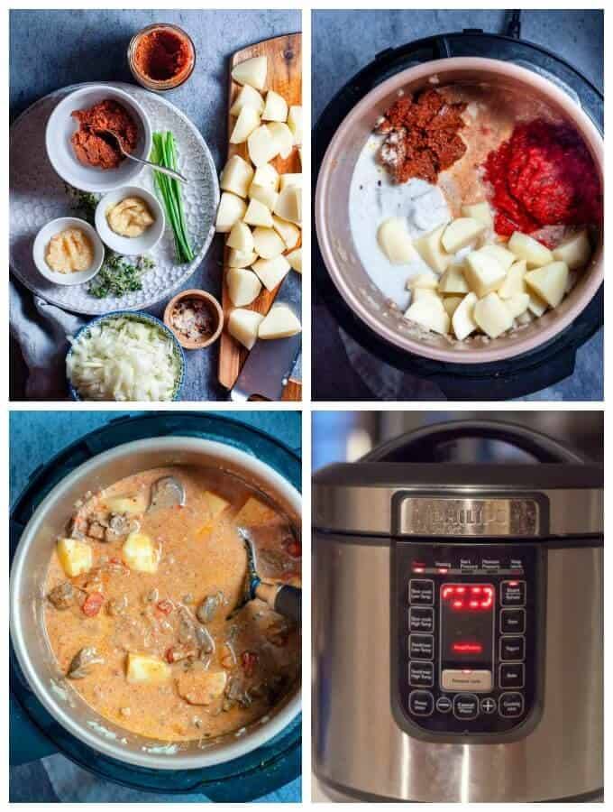 Beef Rendang Pressure Cooker preparation