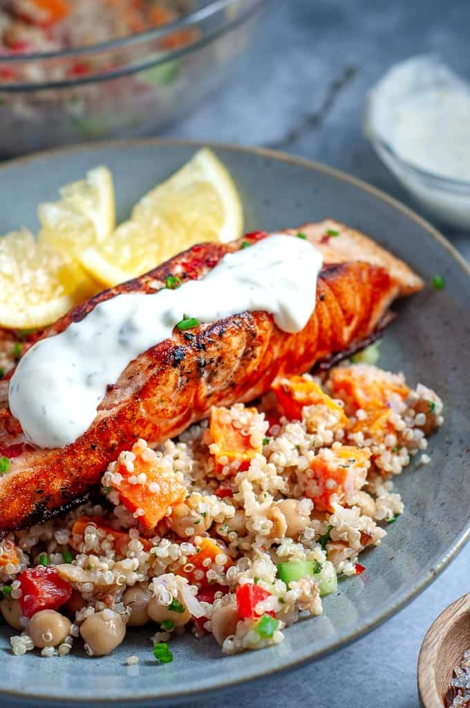 Salmon Quinoa Salad My Sugar Free Kitchen