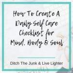 daily self care checklist-1