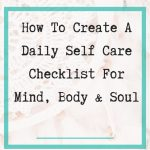 daily self care checklist