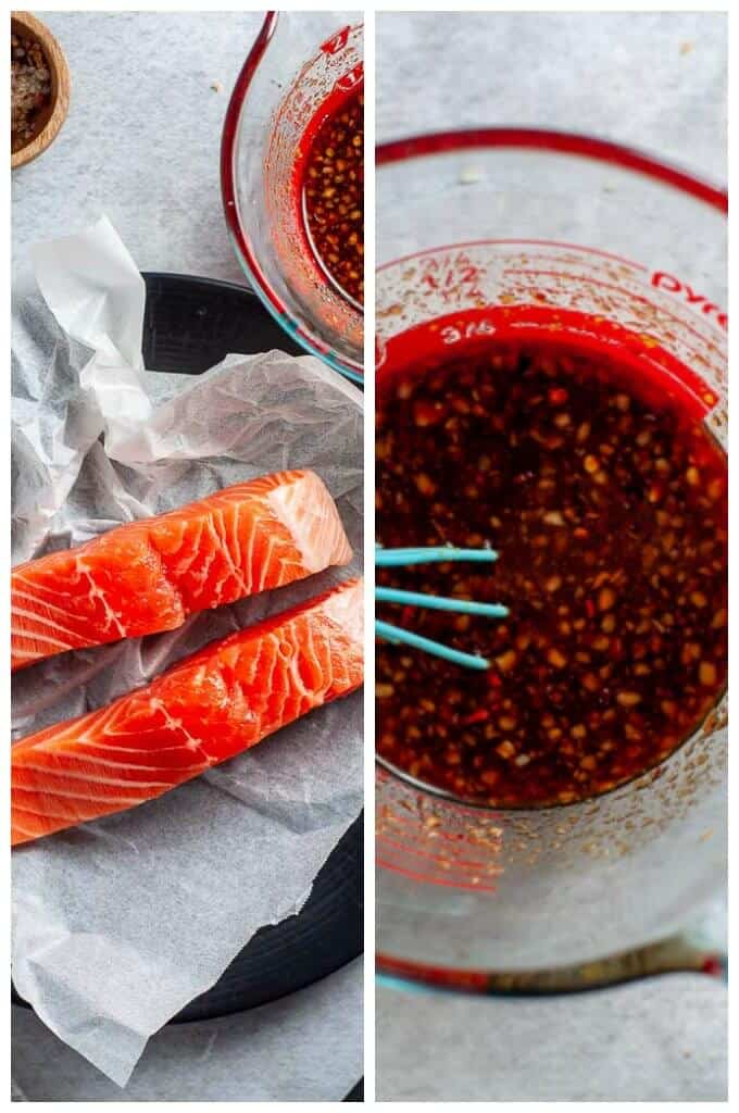 Healthy Asian Salmon - collage