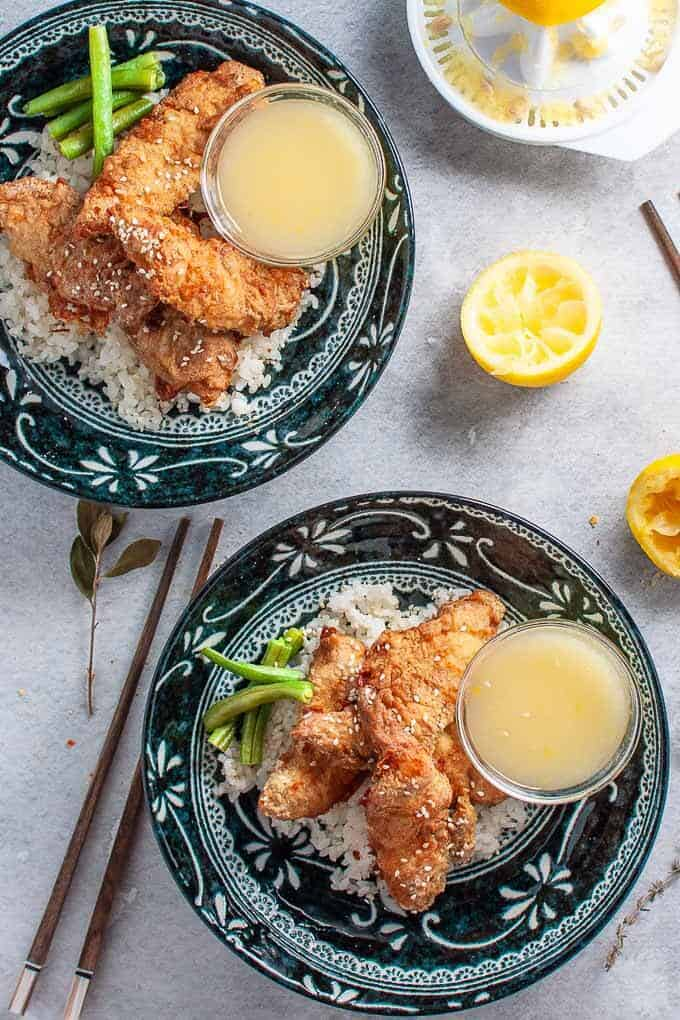 Healthy crispy asin lemon chicken tenders