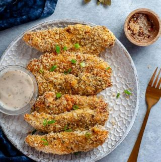 Oven Baked Chicken Tenders with panko