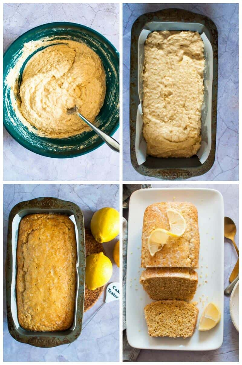 Sugar Free Lemon Loaf collage