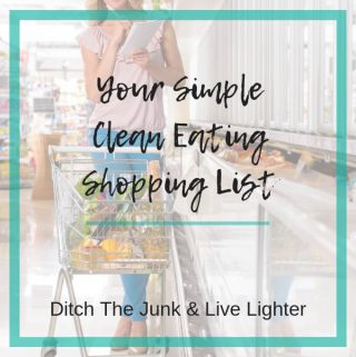 clean eating shopping list printable pdf